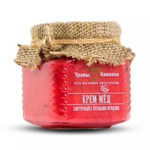 Крем-мед с ягодами