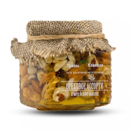 Акациевый мед с орехами