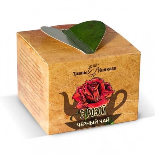 Чай черный с розой