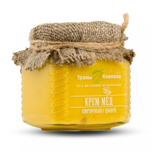 Цветочный крем-мед с дыней