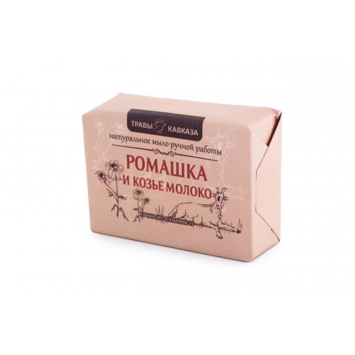 Мыло с ромашкой и козьим молоком натуральное ручной работы